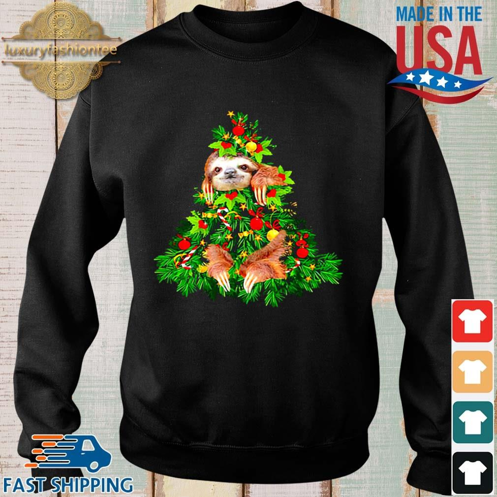 Sloth hide on Christmas tree sweater