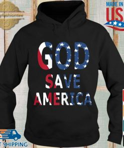 USA flag God save America s Hoodie den