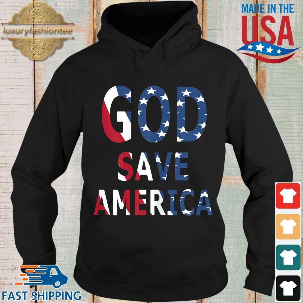 USA flag God save America s Hoodie den