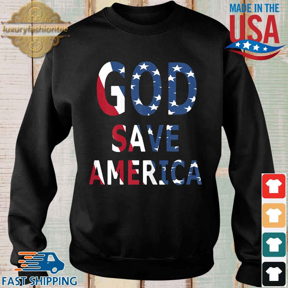 USA flag God save America s Sweater den
