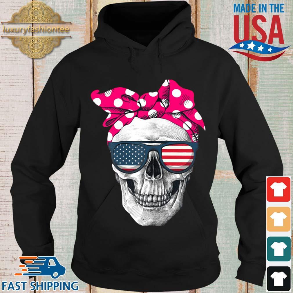 Womens American Skull Women's Pride With Cute Pink Polka Style 2020 Shirt Hoodie den