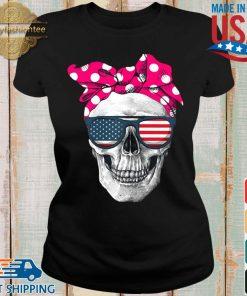 Womens American Skull Women's Pride With Cute Pink Polka Style 2020 Shirt Ladies den