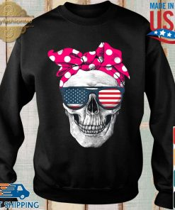 Womens American Skull Women's Pride With Cute Pink Polka Style 2020 Shirt Sweater den
