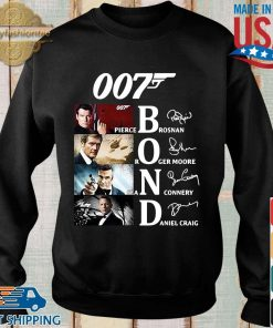 007 Pierce brosnan Roger Moore Sean Connery Daniel Craig signatures shirt