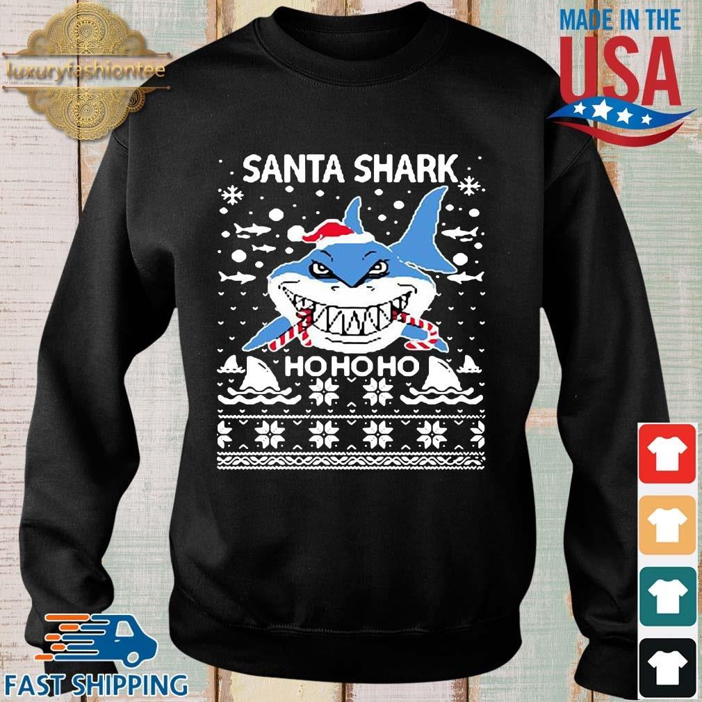 Santa shark ho ho ho Christmas sweater