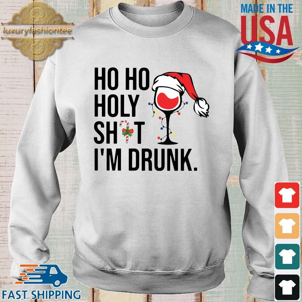 Santa Wine ho ho holy shit I'm drunk Christmas sweater, shirt