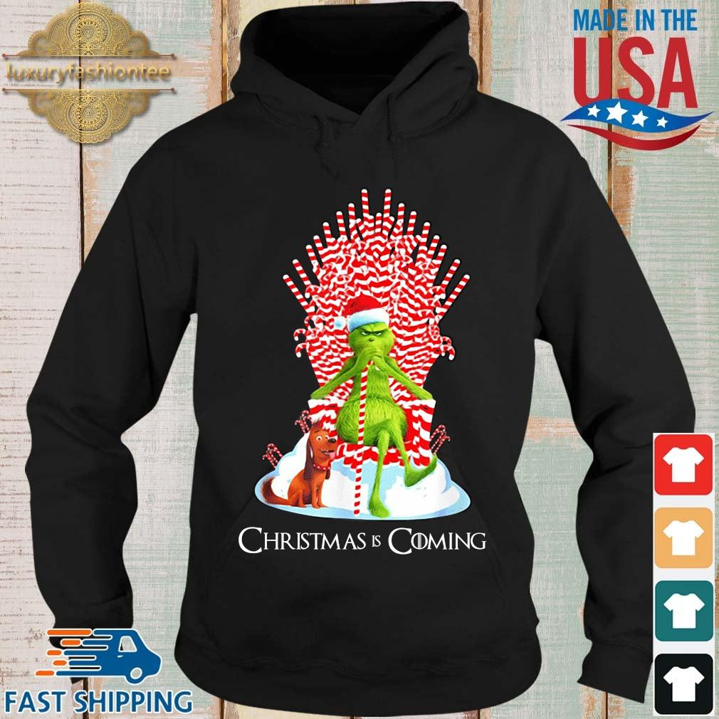 The Grinch and dog king Christmas is coming sweater Hoodie