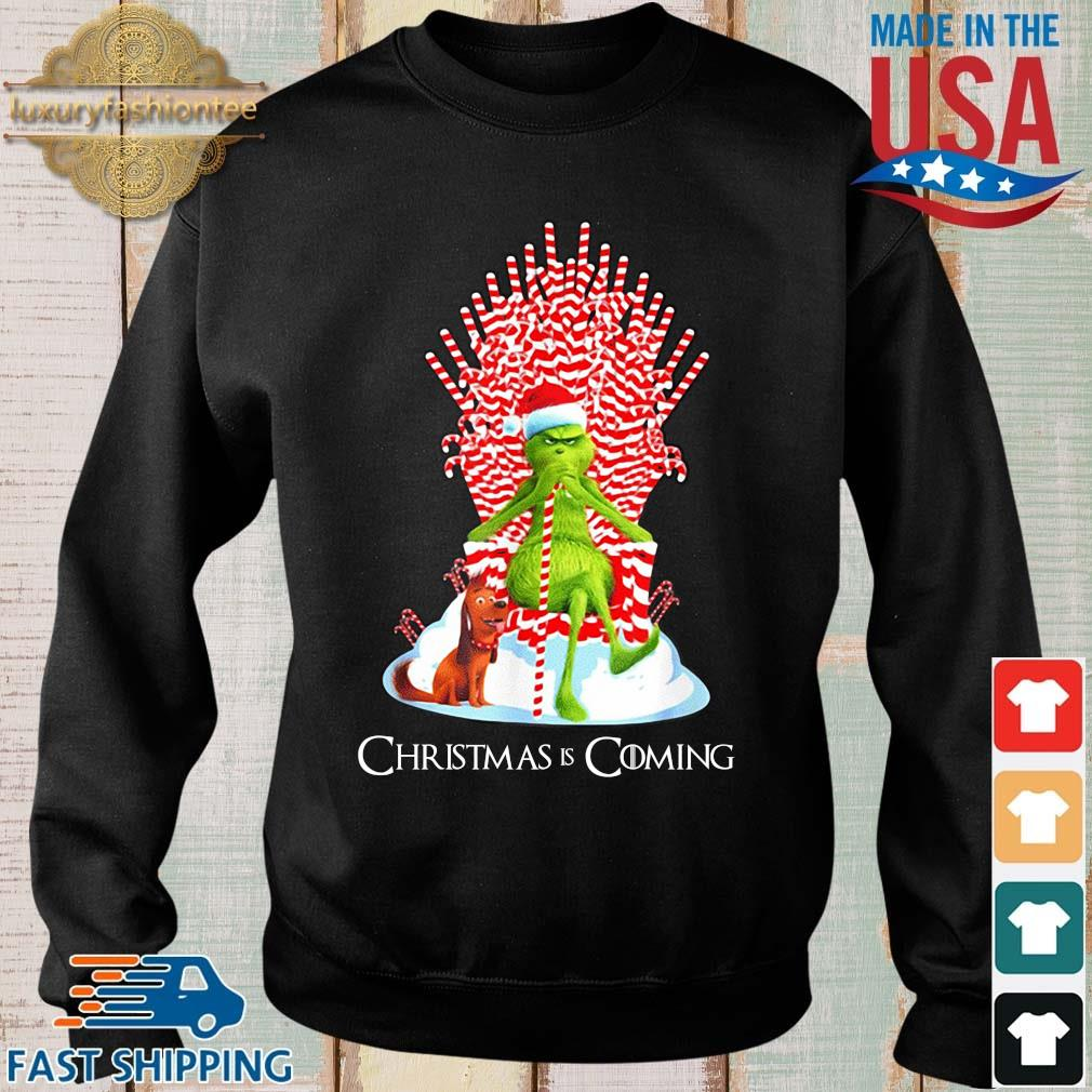 The Grinch and dog king Christmas is coming sweater