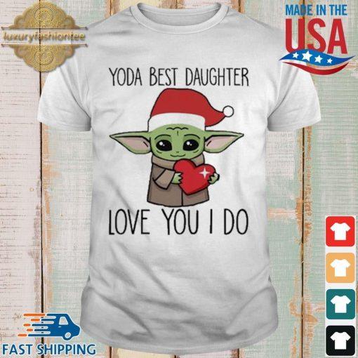 Santa Baby Yoda hug heart best daughter love you I do Christmas sweater shirt trang