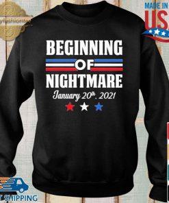Biden Not My President Beginning Of Nightmare Inauguration 2021 Shirt