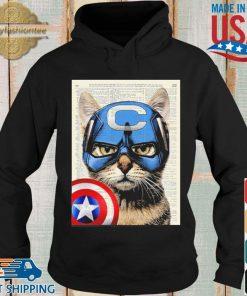 Cat Captain America Shirt Hoodie