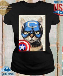 Cat Captain America Shirt Ladies