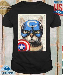 Cat Captain America Shirt shirt