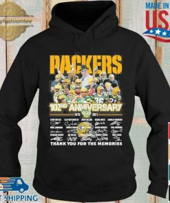 Green Bay Packers 102nd anniversary 1919 2021 thank you for the memories signatures tee s Hoodie