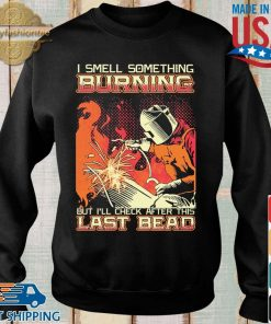 I smell something burning but I'll check after this last bead shirt