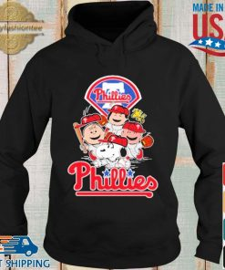 MLB Philadelphia Phillies Snoopy Charlie Brown Woodstock The Peanuts Movie Baseball Shirt Hoodie