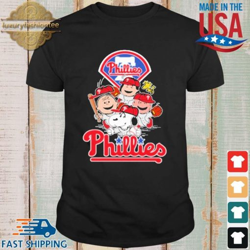 MLB Philadelphia Phillies Snoopy Charlie Brown Woodstock The Peanuts Movie Baseball Shirt shirt