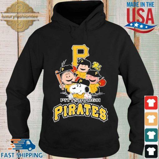 MLB Pittsburgh Pirates Snoopy Charlie Brown Woodstock The Peanuts Movie Baseball Shirt Hoodie