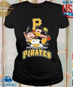 MLB Pittsburgh Pirates Snoopy Charlie Brown Woodstock The Peanuts Movie Baseball Shirt Ladies