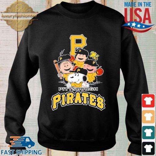MLB Pittsburgh Pirates Snoopy Charlie Brown Woodstock The Peanuts Movie Baseball Shirt