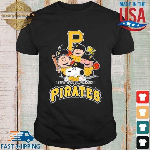 MLB Pittsburgh Pirates Snoopy Charlie Brown Woodstock The Peanuts Movie Baseball Shirt shirt