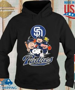 MLB San Diego Padres Snoopy Charlie Brown Woodstock The Peanuts Movie Baseball Shirt Hoodie