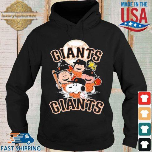 MLB San Francisco Giants Snoopy Charlie Brown Woodstock The Peanuts Movie Baseball Shirt Hoodie
