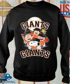 MLB San Francisco Giants Snoopy Charlie Brown Woodstock The Peanuts Movie Baseball Shirt