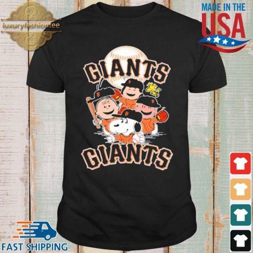 MLB San Francisco Giants Snoopy Charlie Brown Woodstock The Peanuts Movie Baseball Shirt shirt