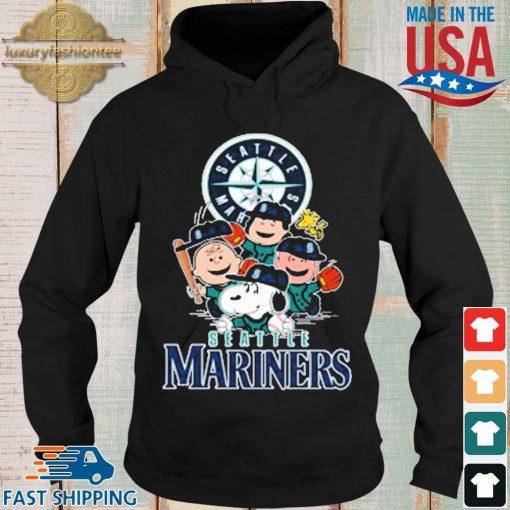 MLB Seattle Mariners Snoopy Charlie Brown Woodstock The Peanuts Movie Baseball Shirt Hoodie