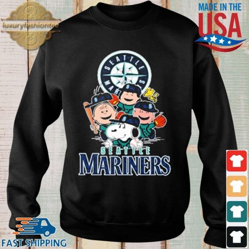 MLB Seattle Mariners Snoopy Charlie Brown Woodstock The Peanuts Movie Baseball Shirt