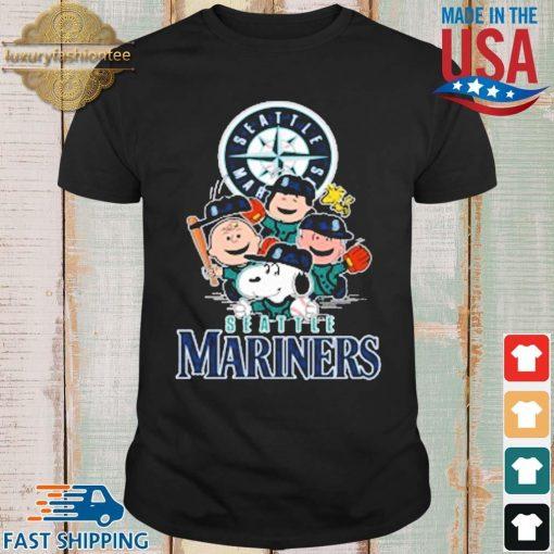 MLB Seattle Mariners Snoopy Charlie Brown Woodstock The Peanuts Movie Baseball Shirt shirt