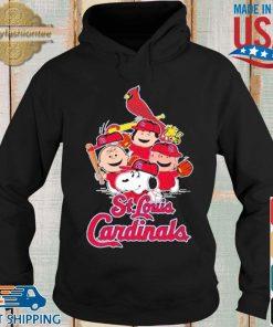 MLB St.Louis Cardinals Snoopy Charlie Brown Woodstock The Peanuts Movie Baseball Shirt Hoodie