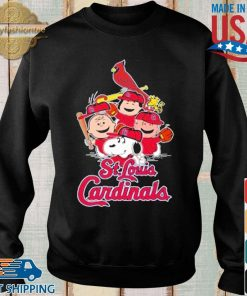 MLB St.Louis Cardinals Snoopy Charlie Brown Woodstock The Peanuts Movie Baseball Shirt