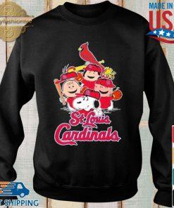MLB St.Louis Cardinals Snoopy Charlie Brown Woodstock The Peanuts Movie Baseball Shirt