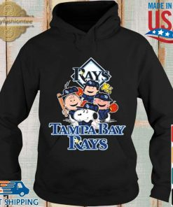 MLB Tampa Bay Rays Snoopy Charlie Brown Woodstock The Peanuts Movie Baseball Shirt Hoodie
