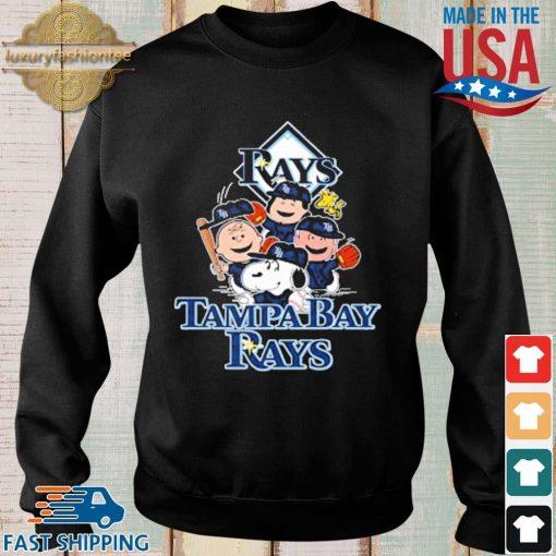 MLB Tampa Bay Rays Snoopy Charlie Brown Woodstock The Peanuts Movie Baseball Shirt