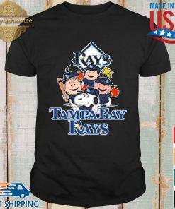 MLB Tampa Bay Rays Snoopy Charlie Brown Woodstock The Peanuts Movie Baseball Shirt shirt