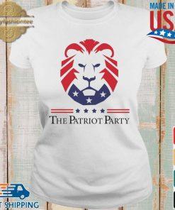 New Patriot Party Pride Shirt Ladies trang